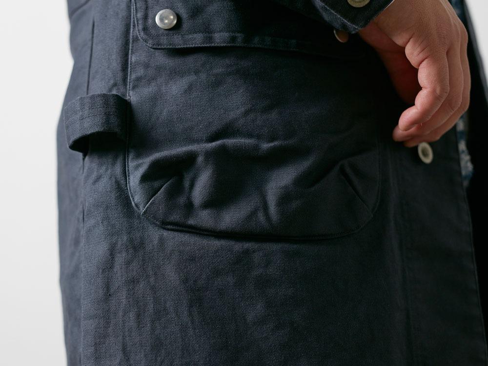 TAKIBI Shop Coat S Navy1