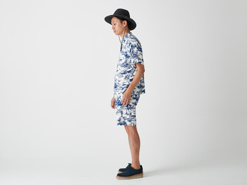 Camp Aloha Shirt M Olive2
