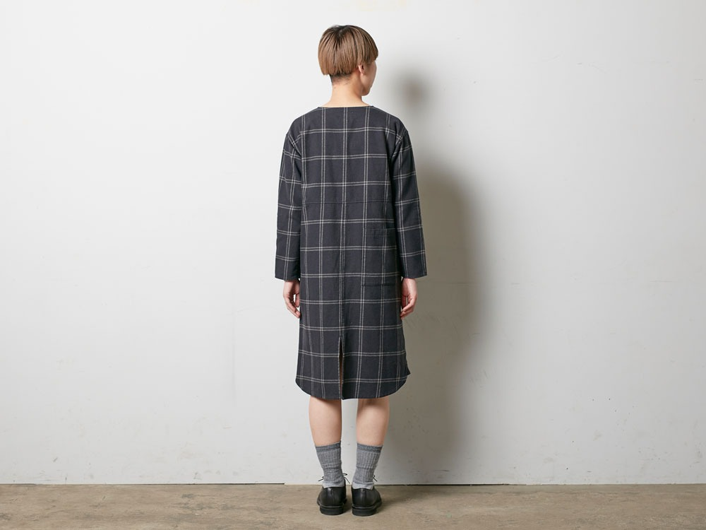 W's Check Heavy Flannel Dress 1 Beige3