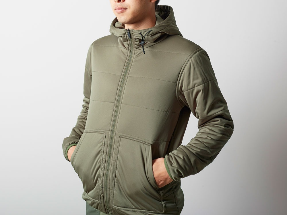Flexible Insulated Hoodie M Olive10