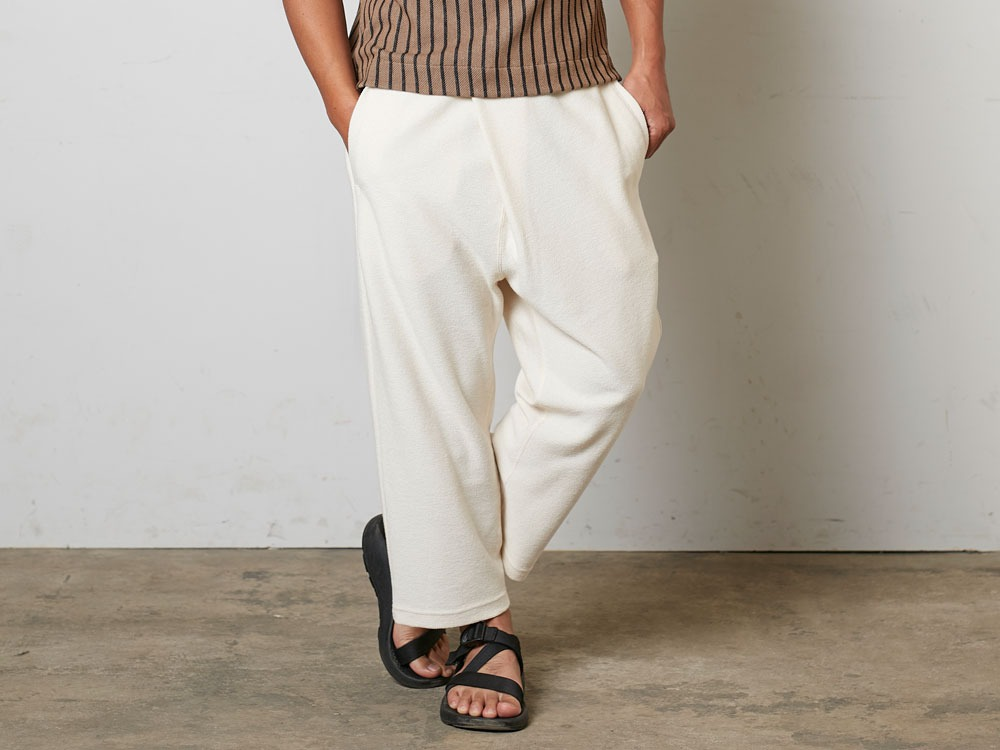 CottonLinenStripedPants XL Brown×Black8