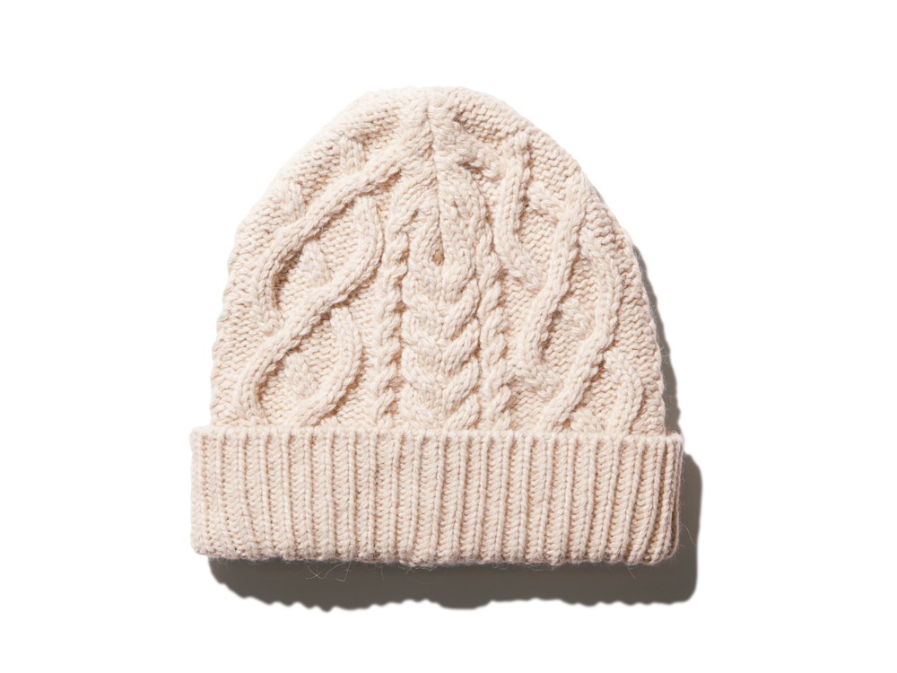 Alpaca Knit Cap One Ecru