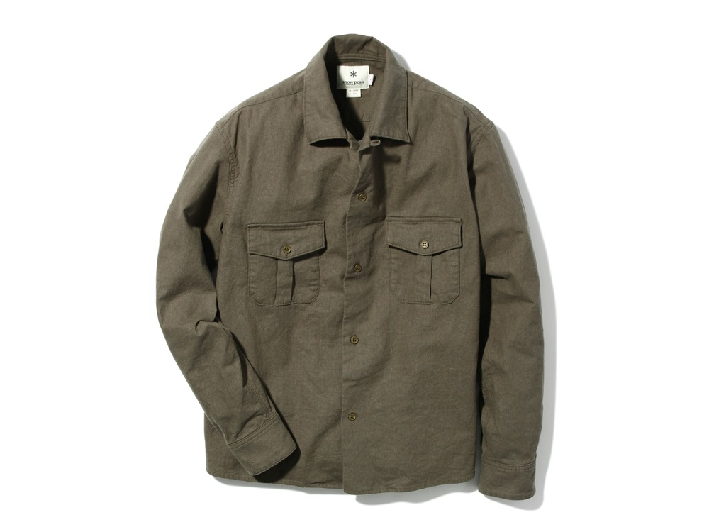 Safari Linen Shirt S Olive0
