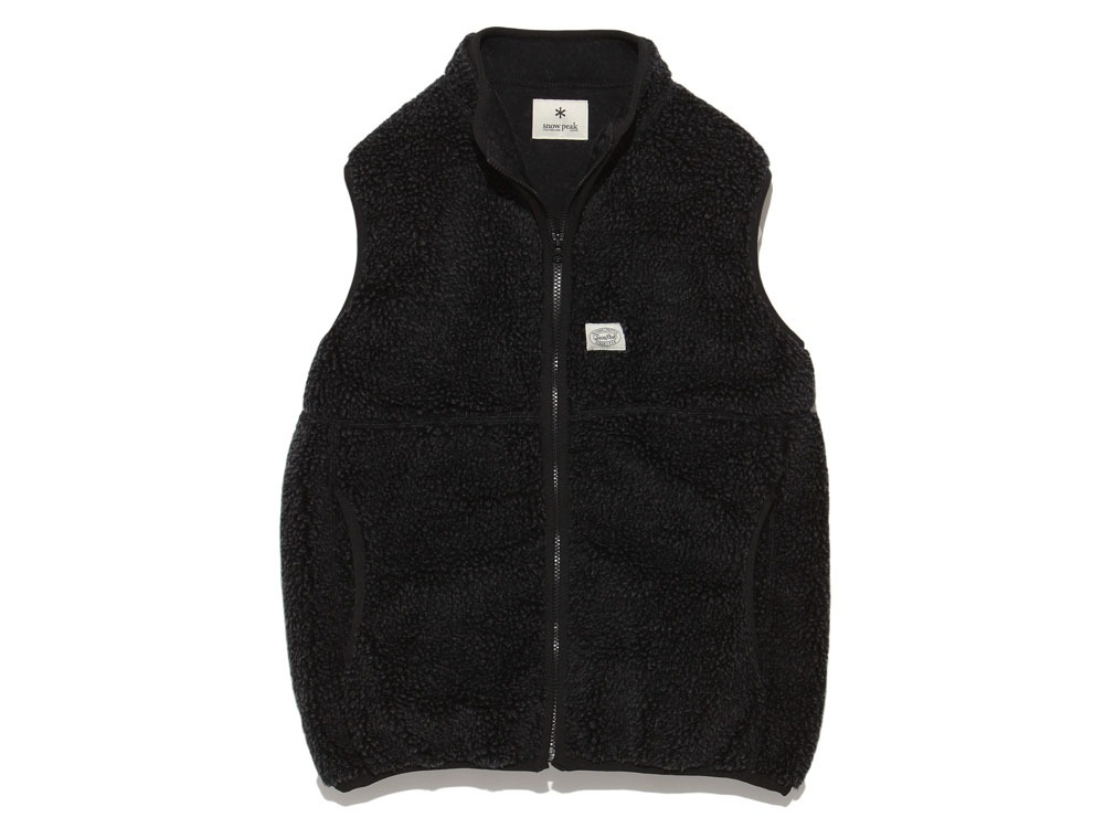 Soft Wool Fleece Vest S Charcoal0