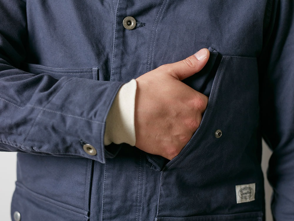 TAKIBI Coverall Jacket M Navy6