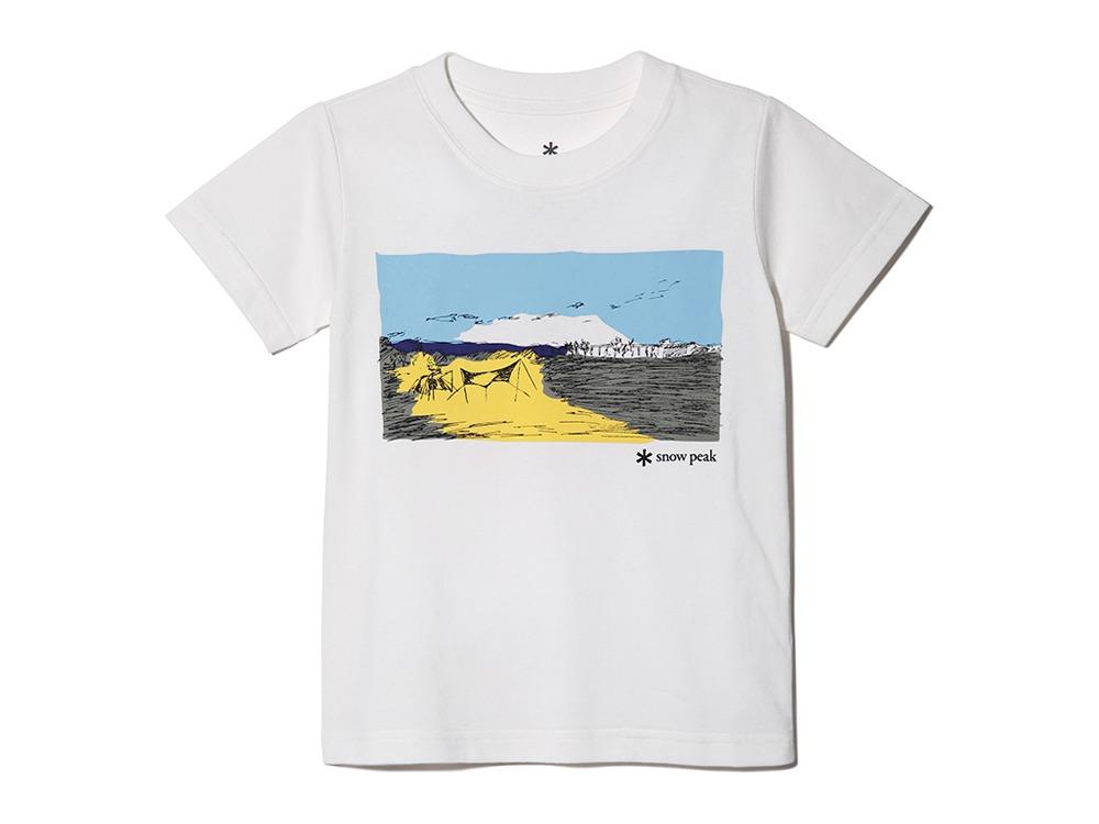 Kids Printed Tshirt Campfield 2 White