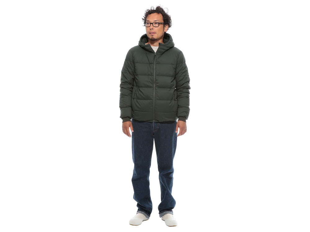 Pillow  Down HoodieS Green1