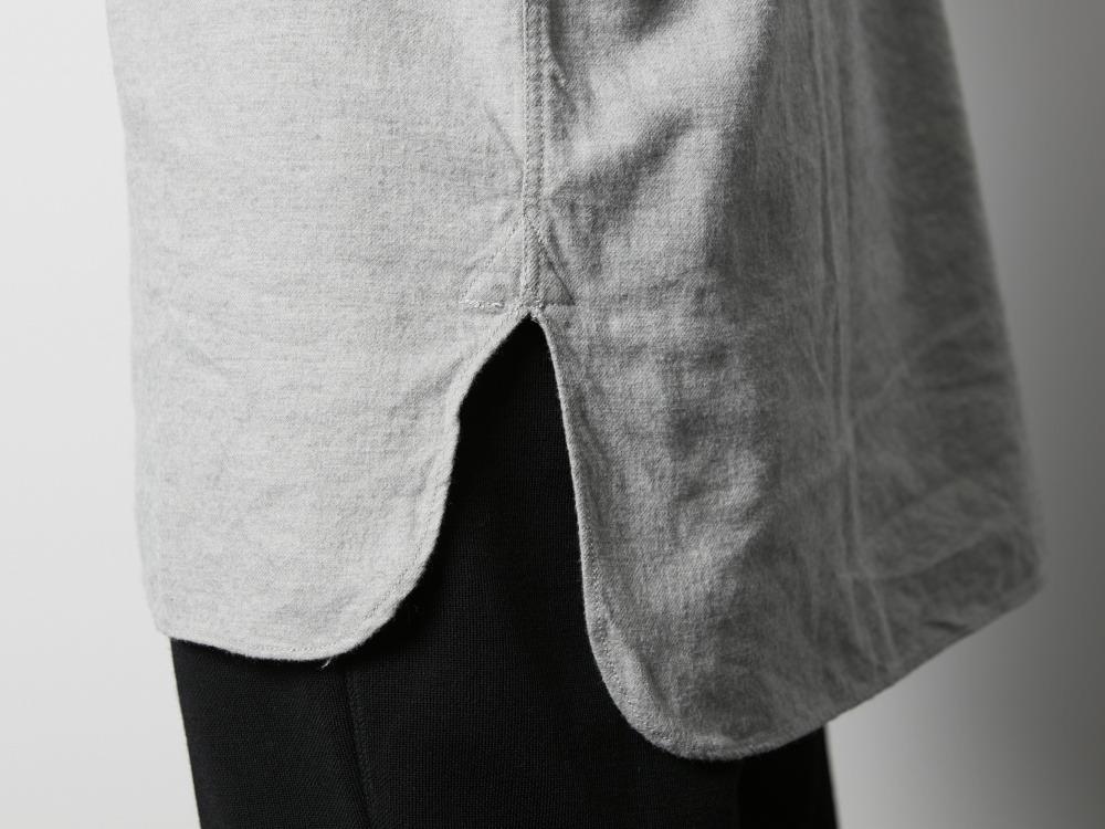 コットンウール フランネルスリーピングシャツ XXL ブラウン