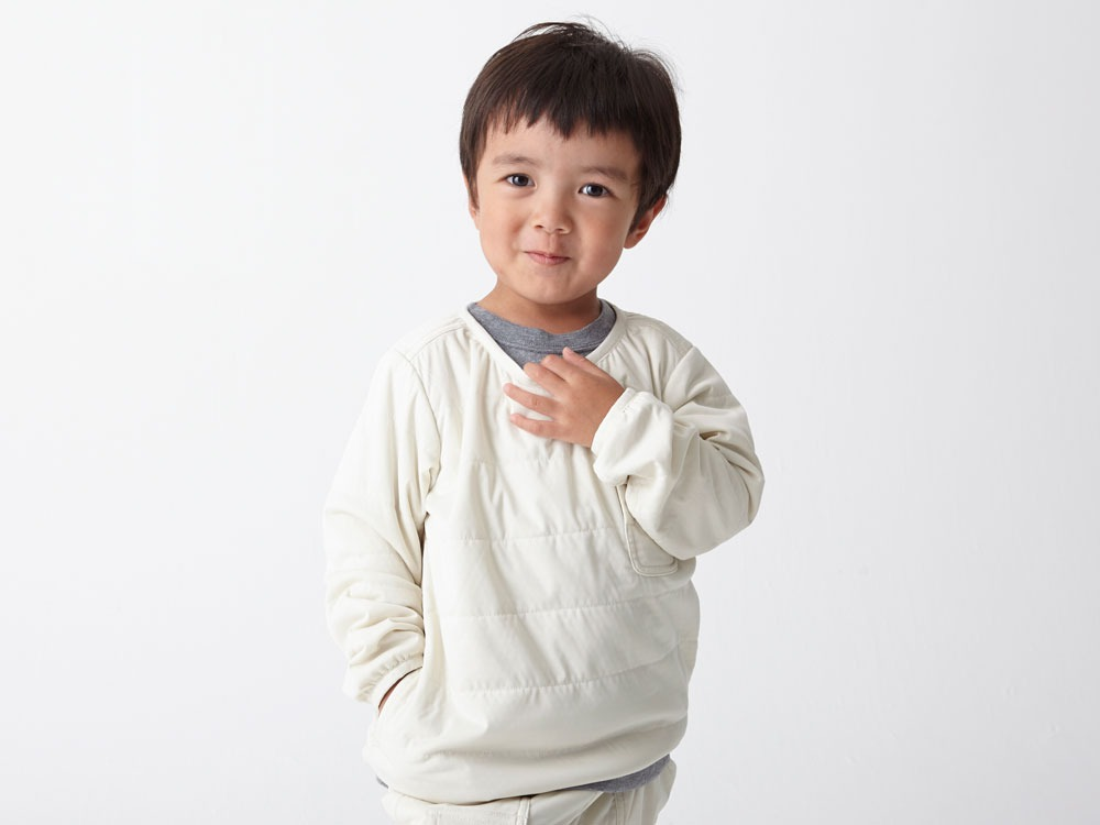 Kids Flexible Insulated Pullover 4 White7