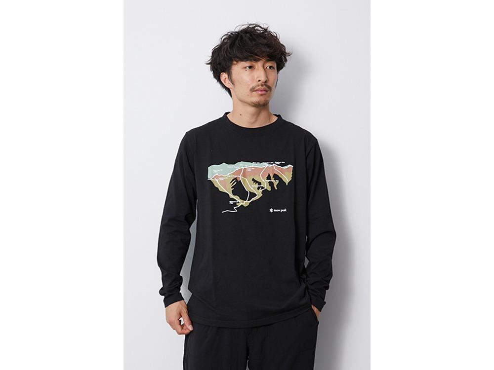 Printed L/S Tshirt Tanigawa M Black