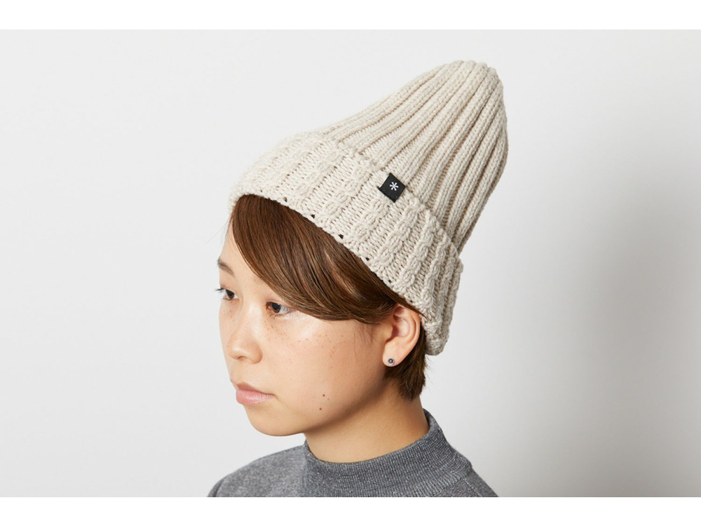 Washable Wool Knitted Cap One Natural