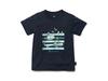 キッズクイックドライティーシャツ (フィールドプリント)  1 ネイビー