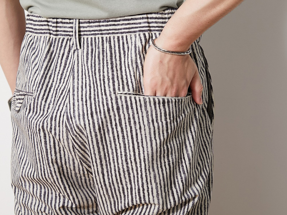 Printed Quick Dry Pants 1 EcruNavy