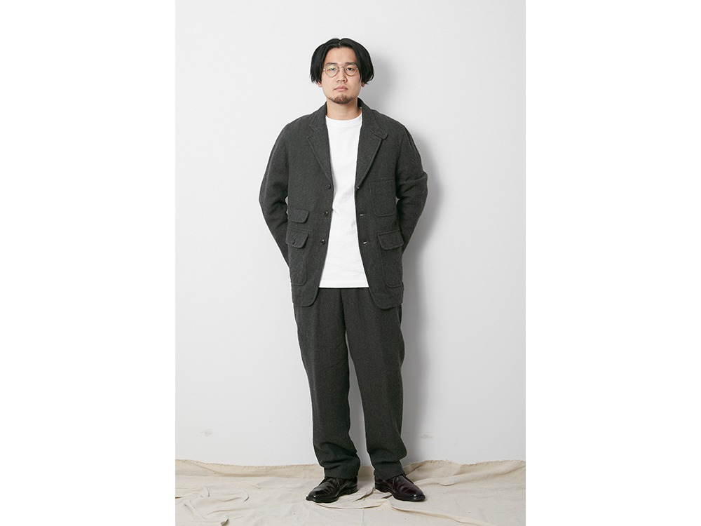 Wo/Li Herringbone Tweed Jacket S MGR
