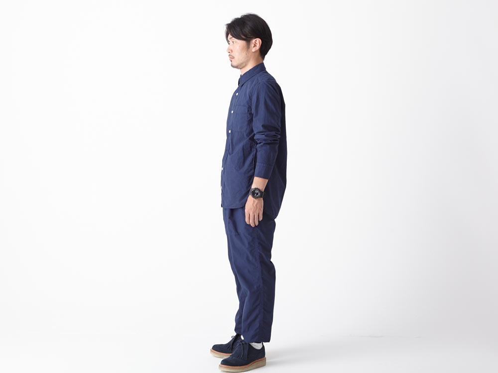 Organic Typewriter Shirt S Navy2