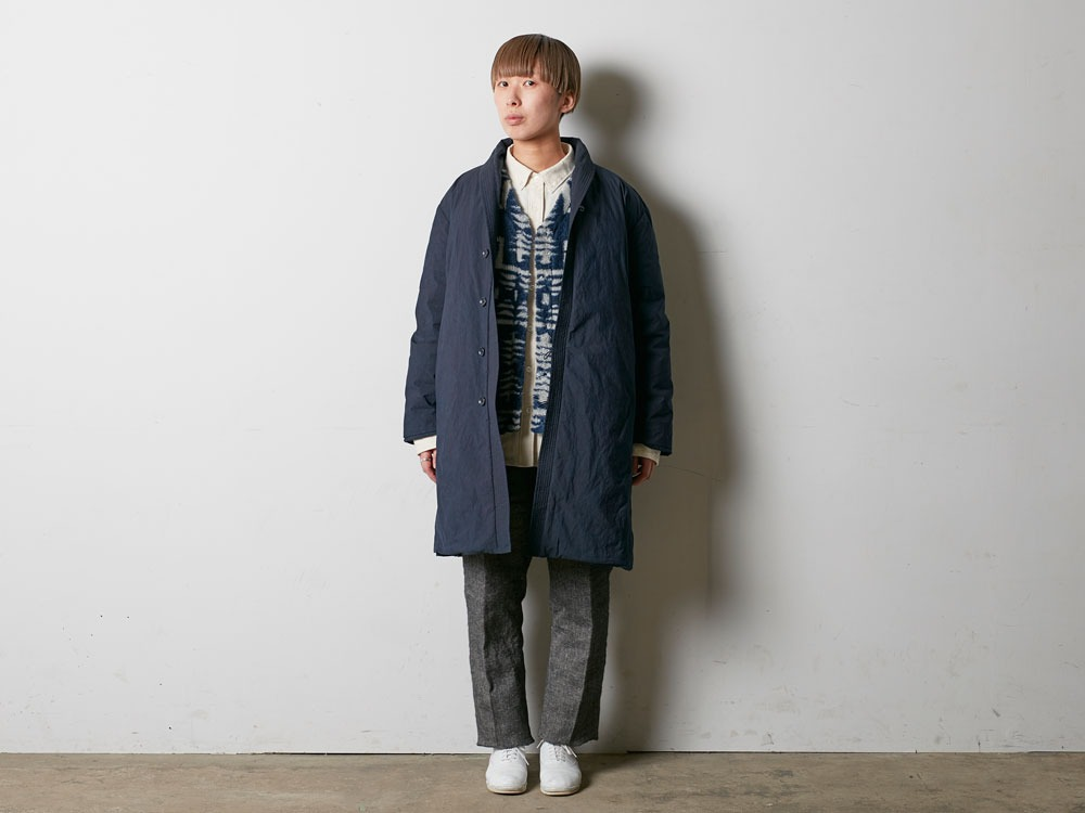 Indigo C/N Down Long Coat L Indigo1