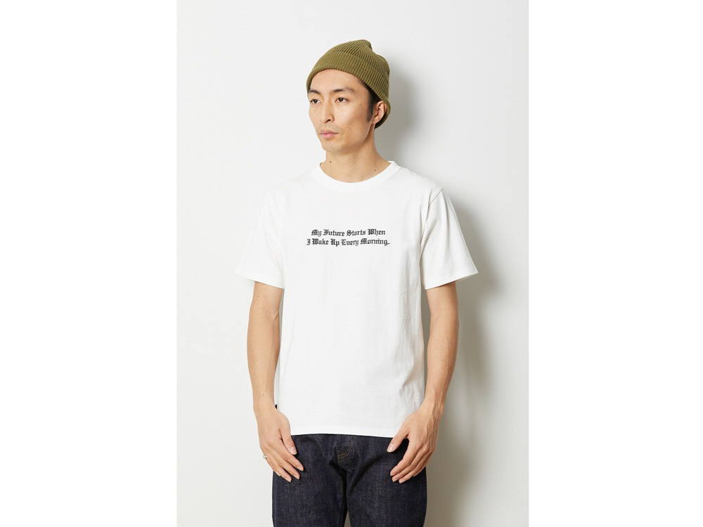 タイポグラフィカル Tシャツ M ホワイト