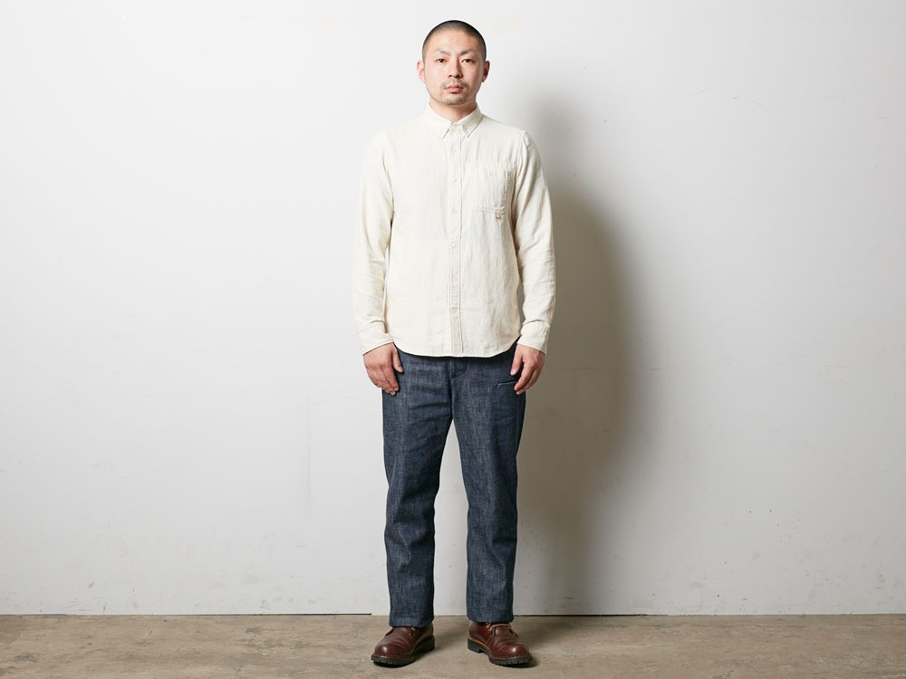 Organic OX Shirt L Blue1