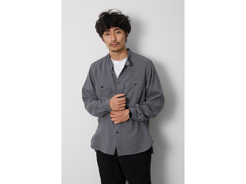 Cotton Silk Serge Shirt S Ecru