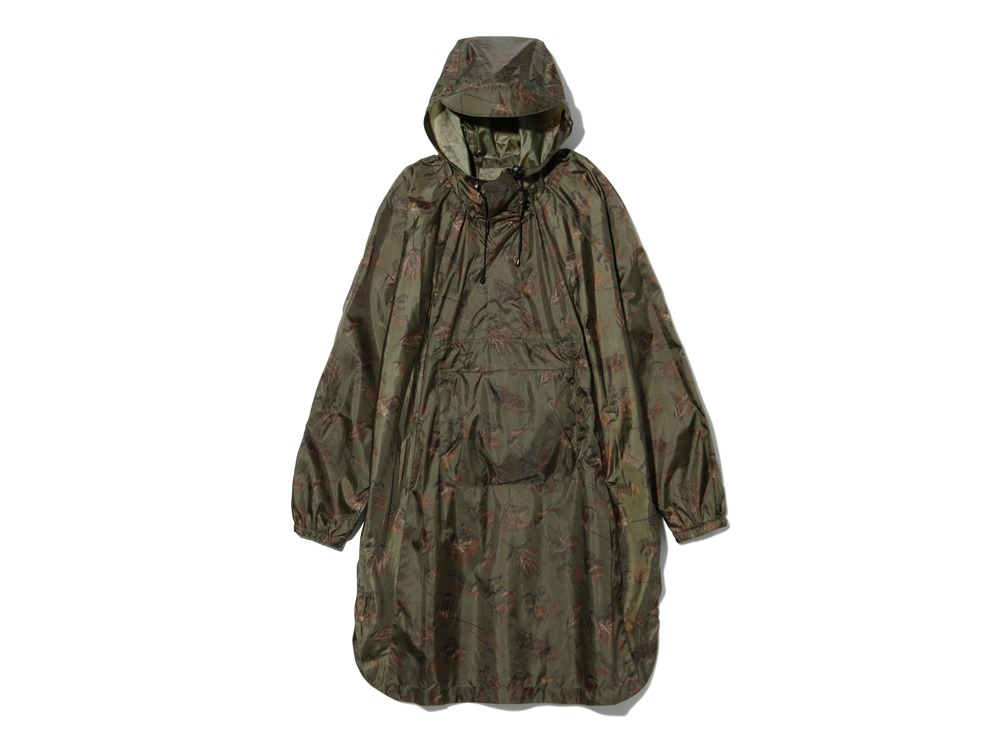 Printed Over Poncho 2 Olive0