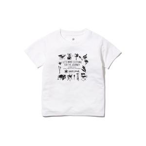 キッズスノーピークギアティーシャツ 1 ホワイト
