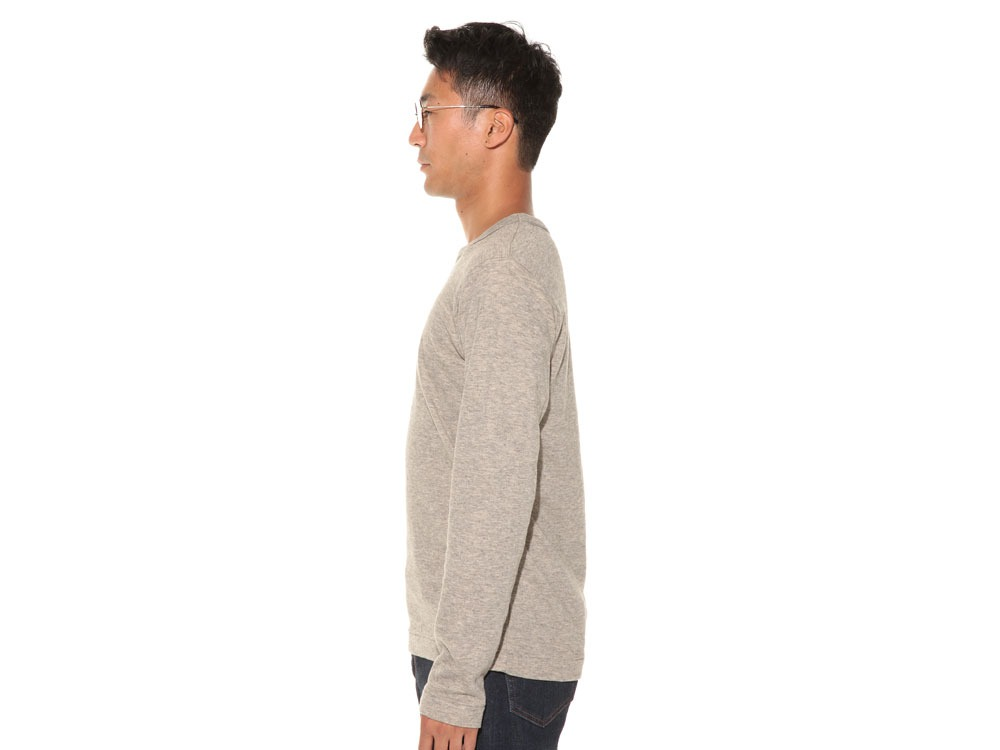 Yak/Cotton Double Knit Long Sleeve S M.Grey3