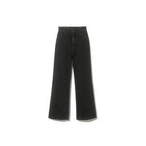 Three Pockets Black Jeans Pants Wide