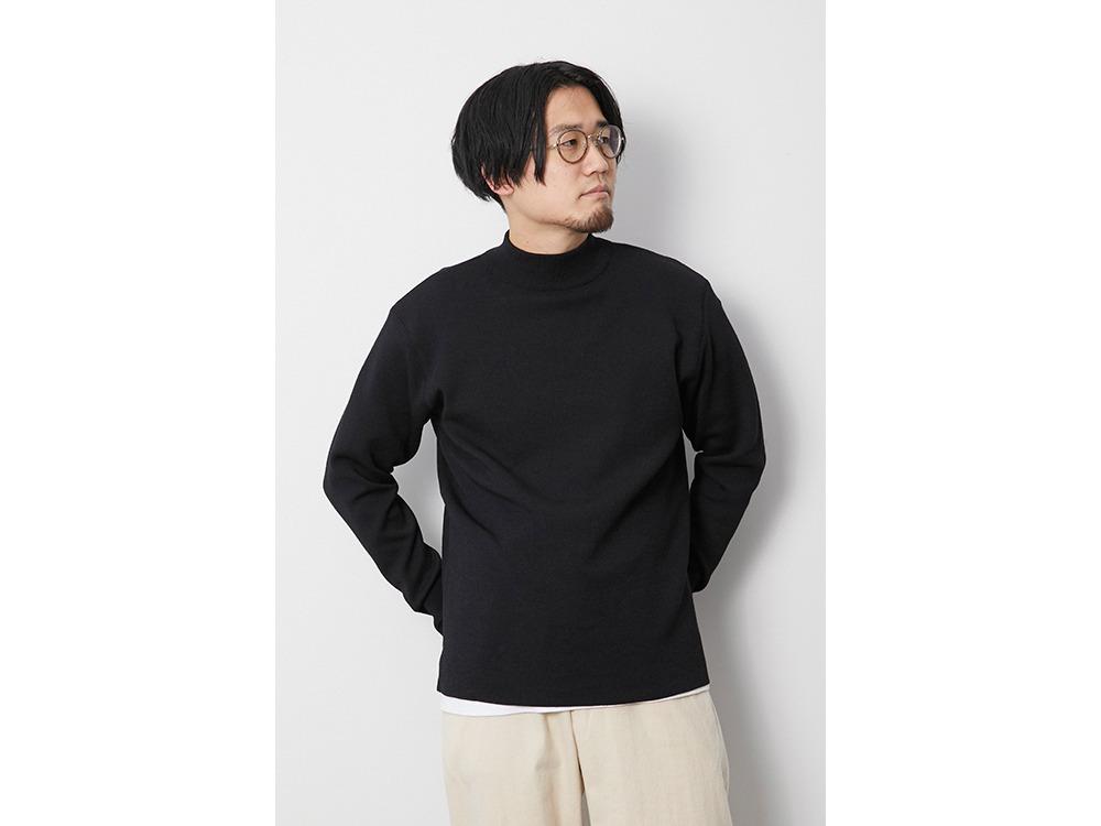 Li/W/Pe Mockneck Long Sleeve M Black