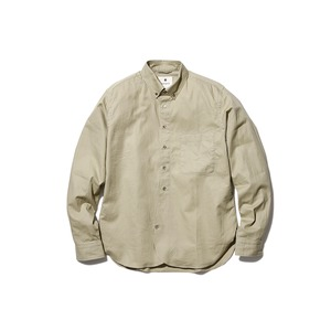 OG Cotton Poplin BD Shirt M Beige