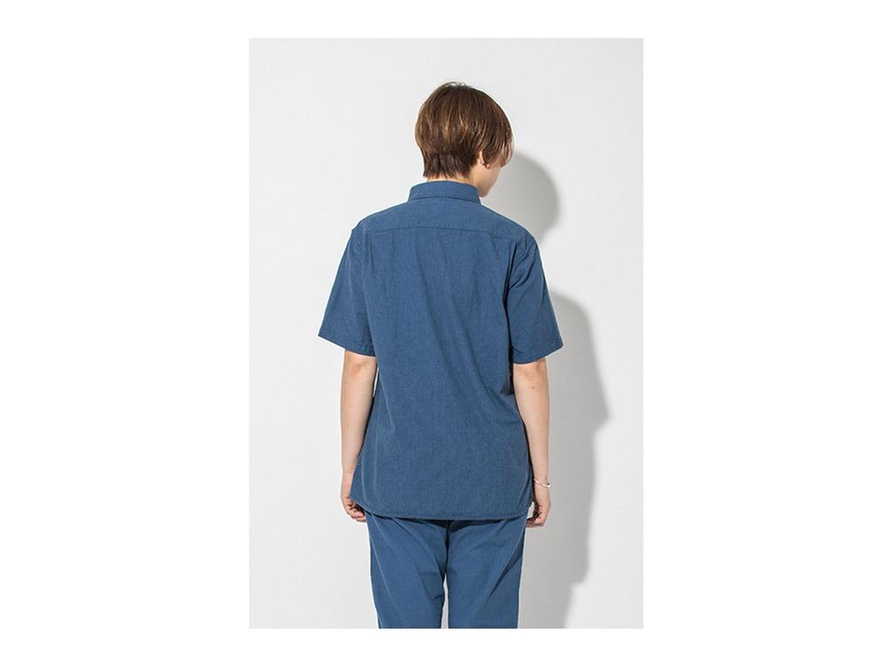 現代のワークシャツS/S  M/S Navy