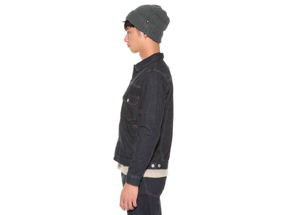 Pile Denim Jacket S Hard Wash3