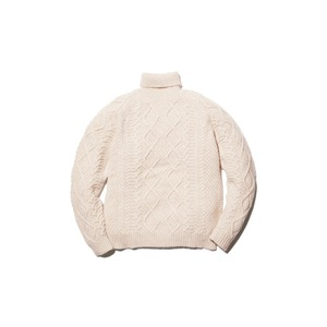 Alpaca Knit Turtleneck Pullover