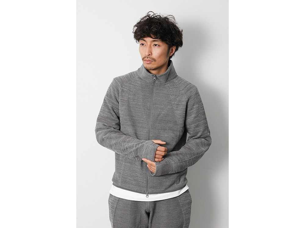 WG Stretch Knit Jacket L M.Grey