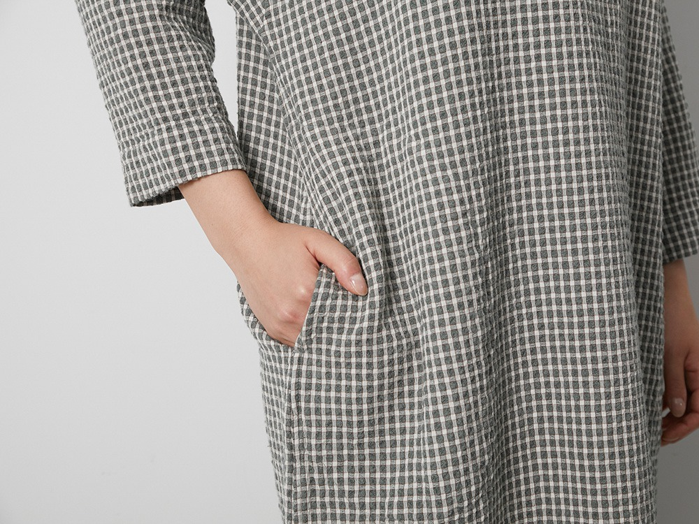W/R Gingham Check Dress 2 Charcoal