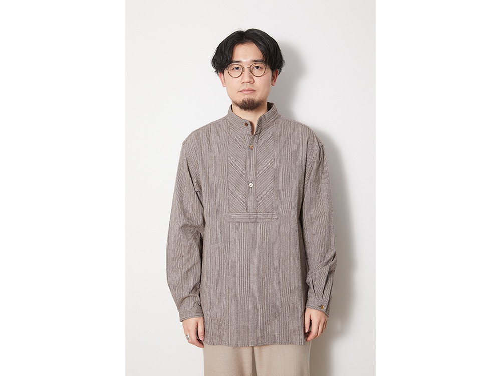 SHIJIRA Long Shirt XL Brown