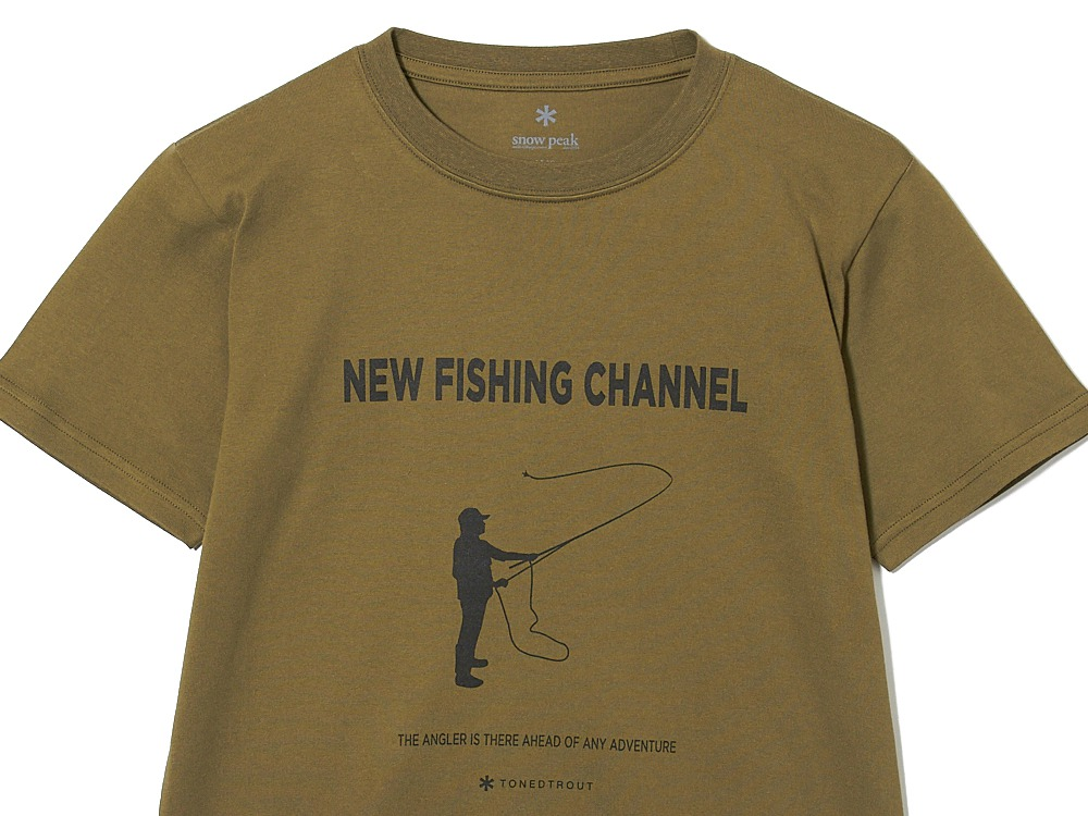 SP×TONEDTROUT Fishing Tshirt M White