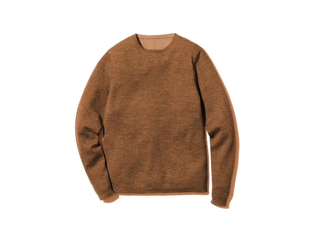 Crew Neck Base Layer M Camel