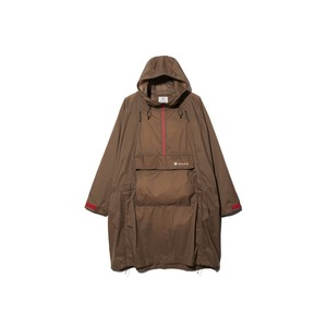Rain&Wind Resistant Poncho 2 Brown