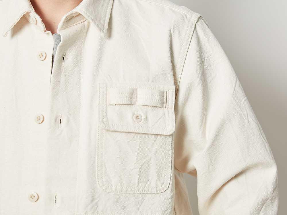 オカヤマ オックス ワークシャツ エクリュ XL