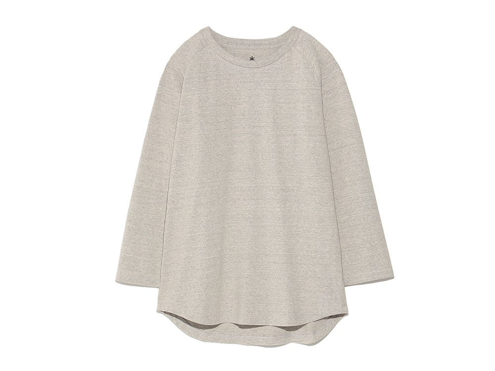 Organic Heavy Weight Raglan M Melange Grey0