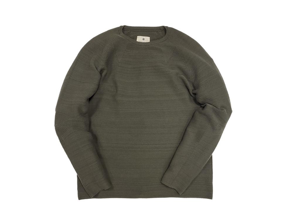 WG Stretch Knit L/S Pullover L Grey