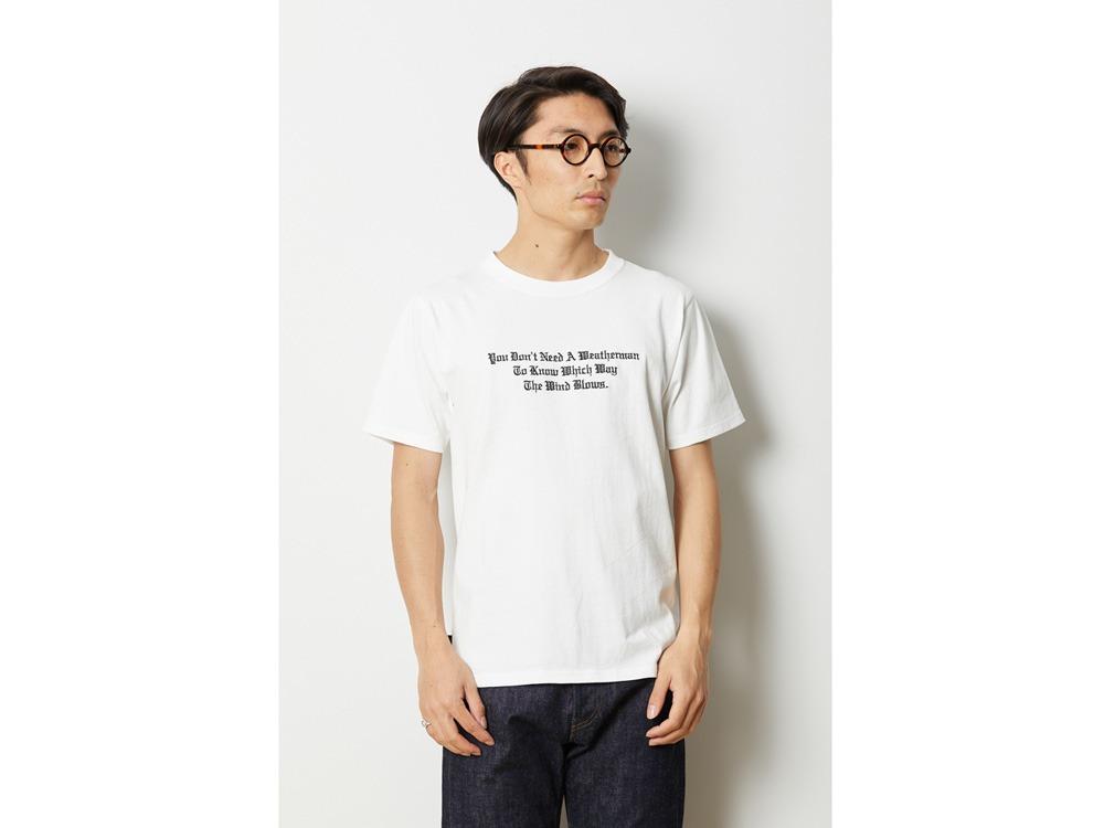 タイポグラフィカル Tシャツ M ブラック