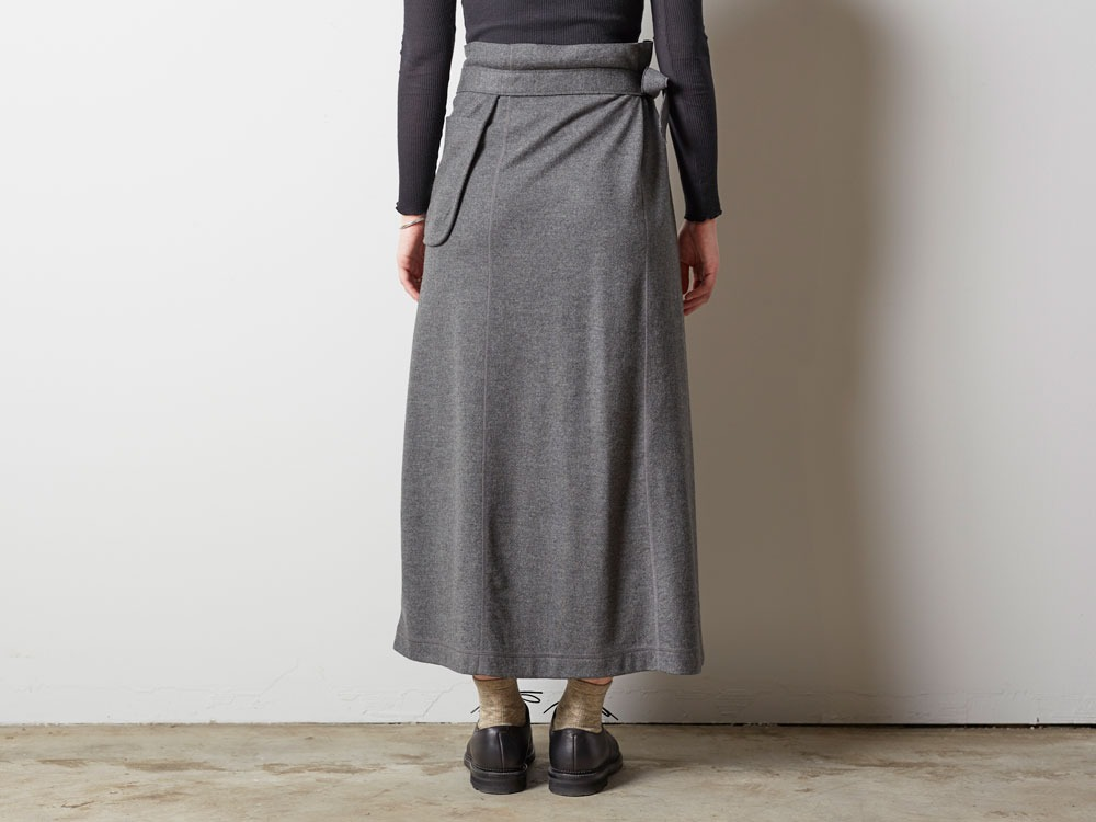 Wool Tight Knit Skirt 3 Olive5