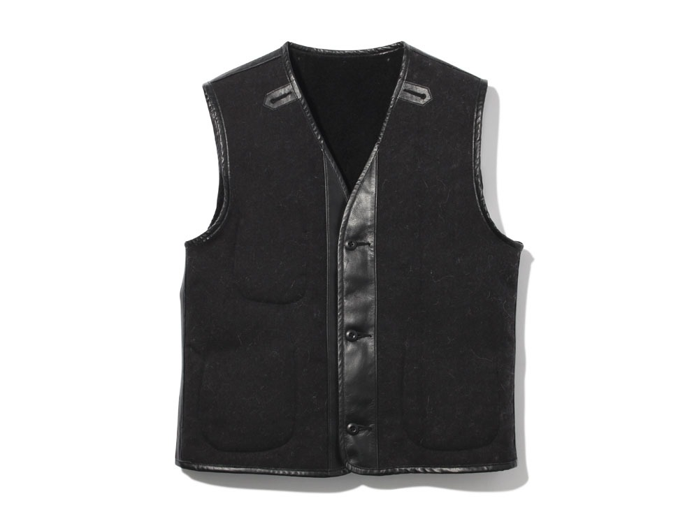 Wool Military Lining Vest XL Black0