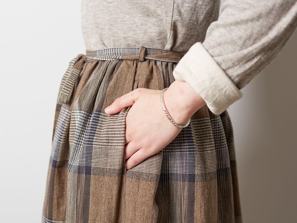 KASURI Skirt 1 Brown5