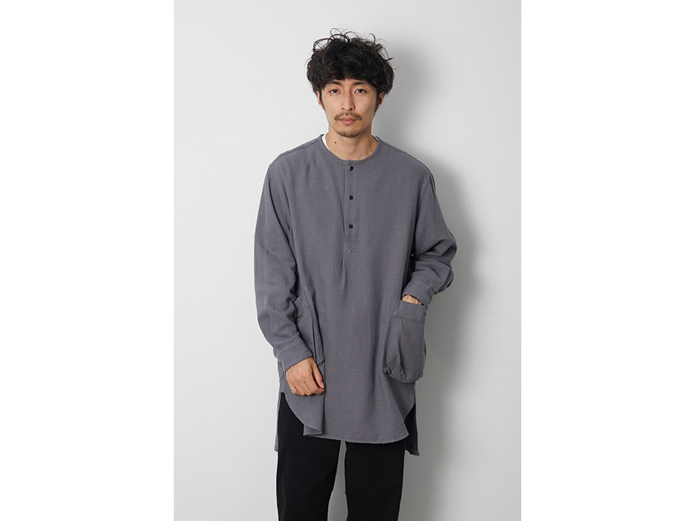 Cotton Silk Serge Long Shirt L Ecru