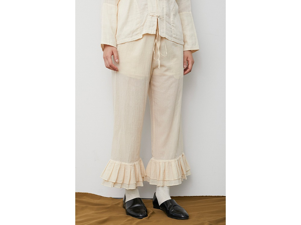 OG Cotton Pleated Pants 2 Ecru