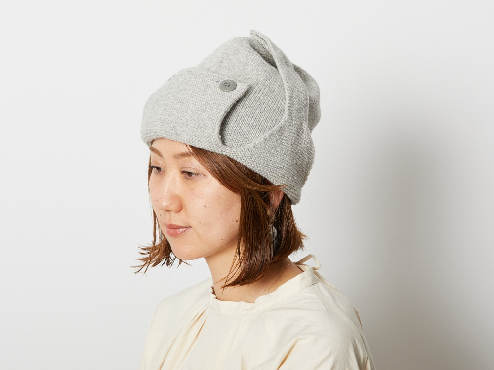 Wool Knitted Flight Cap One Olive