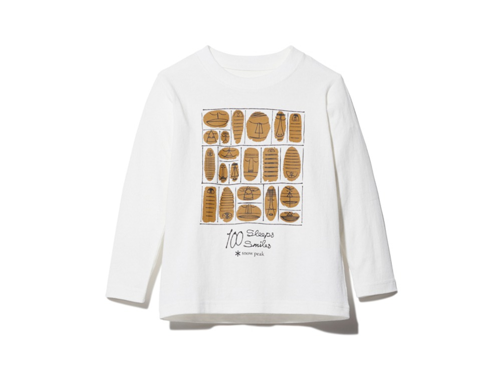 Kids 100 Sleep 100 Smile L/S Tee 3 WH