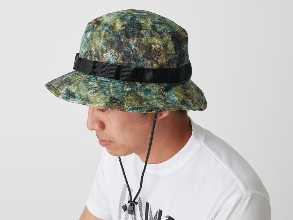 Printed Packable Hat 1 Mustard1